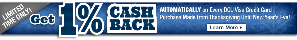 Automatically Earn 1% Cash Back This Holiday Season!