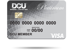 Image of a DCU Visa Platinum card