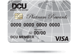 Image of a DCU Visa Rewards card