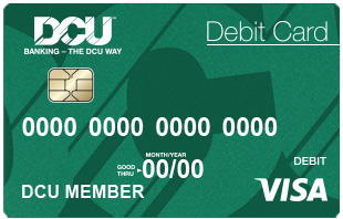 dcu debit card image - Custom Visa Debit Card