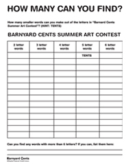 How many can you find? Barnyard Cents summer art contest