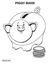 Download the piggy bank coloring page